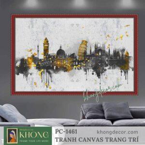 Tranh canvas trang trí nghệ thuật hiện đại thành phố PC-1461